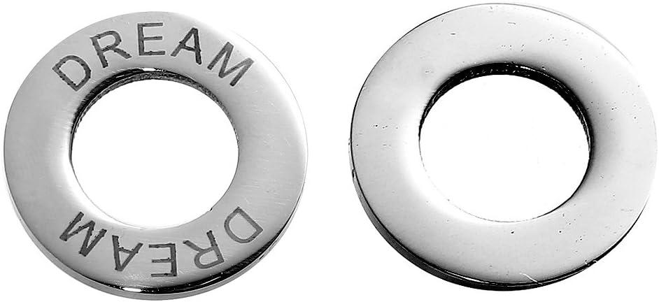 Sadingo Edelstahl Anh/änger Slogan w/ählbar Schmuck basteln Schmuckverbinder 1 St/ück silberfarben Slogan:Blessed 22 mm Ring