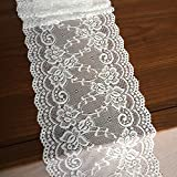 LaceRealm 7 Inch Wide Floral Stretchy Lace