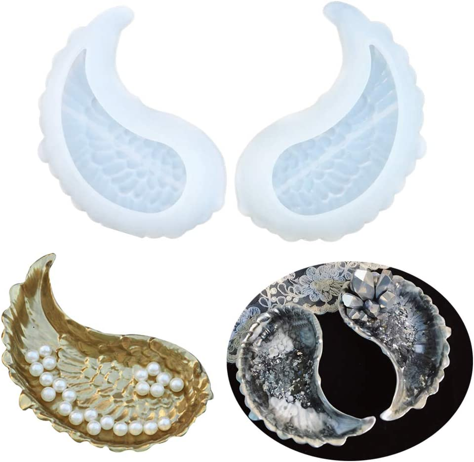 Mould Wings Angel  Jewelry Silicone Epoxy Crystal DIY Making Resin Tools Mold