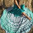 Popular Handicrafts Round Roundie Indian Mandala Round Roundie Beach Throw Picnic Tapestry Hippy Boho Gypsy Cotton Table Cover Beach Tapestry , Round 70\