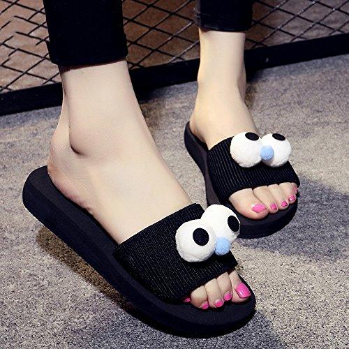 Chanclas MEIDUO sandalias Zapatillas de verano de las señoras Zapatos ocasionales antideslizantes Sandalias gruesas de la playa de la arena de la personalidad (color, tamaño opcional) cómodo #4