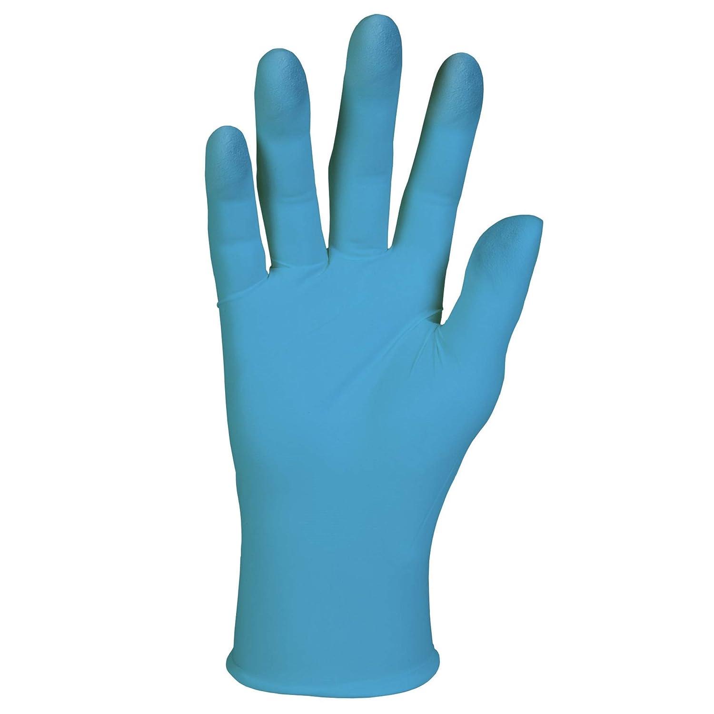 Kleenguard G10 Guanti in Nitrile Blu 57372 Una Confezione da 100 unita Ambidestro portatile da 24 cm Misura M