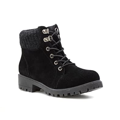 c54edbddbe Lilley Womens Black Faux Suede Lace Up Ankle Boot - Size 3 UK - Black