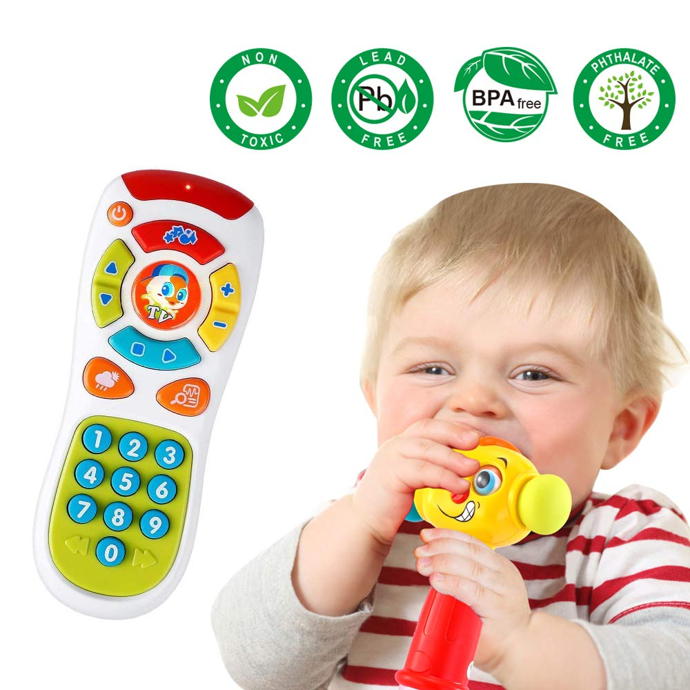 vatos baby remote control toy learning lights remote for baby 6 months click count remote toys for one year old boy girl gift visionlight christmas gift
