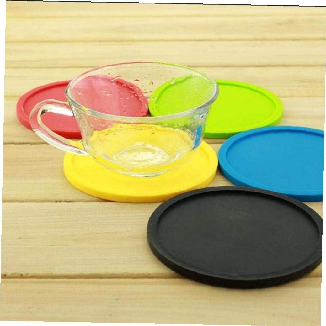 Angoter 1PCS Silikonisolierung Kaffee Tamper-Matte Anti-Rutsch-Hitzebest/ändige Platzdeckchen Tray Drinkglas Coaster Kissen