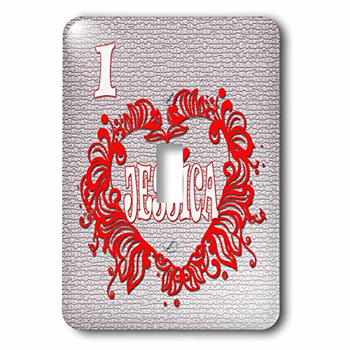 3dRose RinaPiro - Love Quotes - I Love Jessica. Love is forever. - Light Switch Covers - single toggle switch (Jessica Wall Clock)