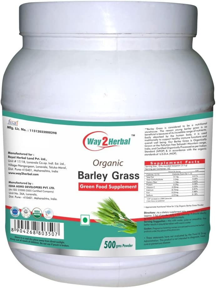 Barley Grass 500 GMS Powder by way2herba…
