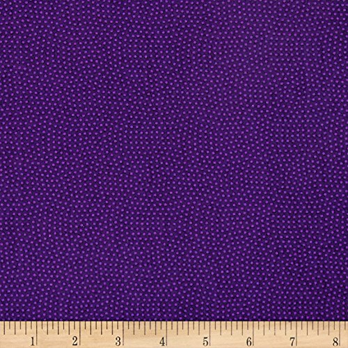 Timeless Treasures Spin Dot Violet Fabric By The Yard -