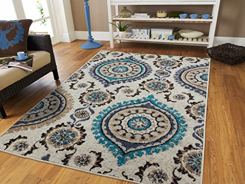 Large 8x11 ivory modern rugs for living room - Contemporary rugs for living room ...