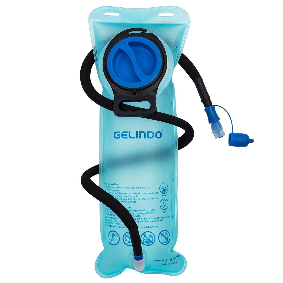 Gelindo Hydration Bladder Depósito de agua de 2,5 litros con tubo aislado desmontable, reemplazo de mochila de hidratación BPA-Free para senderismo, camping, ciclismo, caza