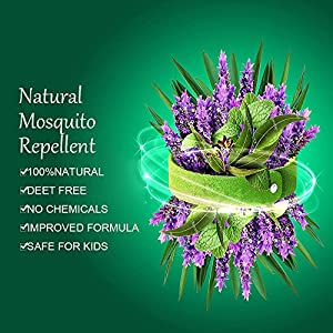 Mosquito Repellent Bracelets 7 Pack & Patch 36 Pcs,SpiritSun 100% All Natural Non-Toxic Plant-Based Oil Mosquito Bands and Travel Insect Repellent,wristband color (Five colors)
