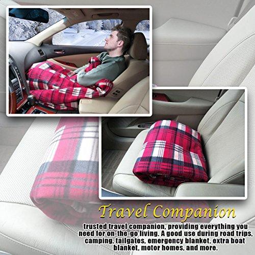 a4e2fdd527 Zone Tech Car Heated Travel Blanket – Plaid Premium Quality 12V Automotive  Comfortable Heating Car Seat Blanket ...