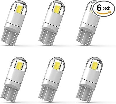 10Pcs White T10 158 194 168 192 W5W 3SMD 2835 LED CERAMIC Light Bulb Lamps 12V