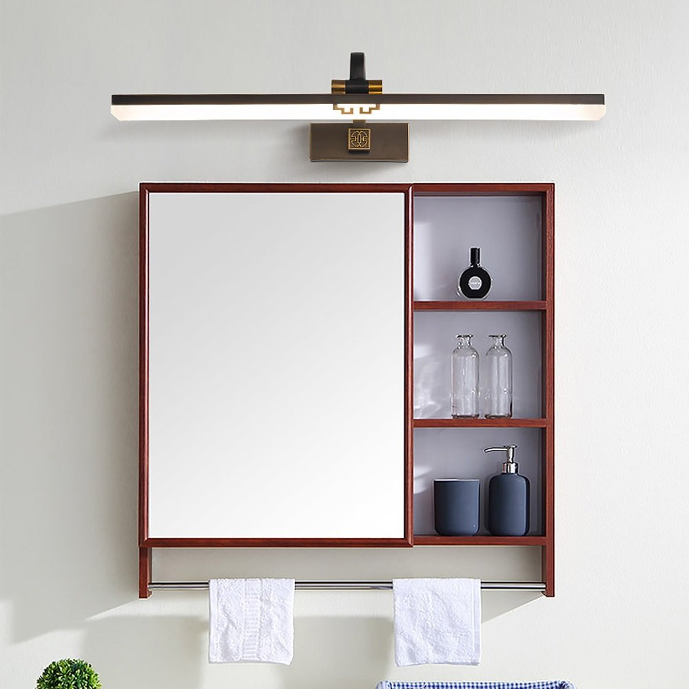 Hyun times ミラーフロントランプ銅LEDミラーキャビネットバスルームの洗面化粧台中国語シンプル ( 色 : ブラック ) B07C98JZ22 15302 ブラック ブラック