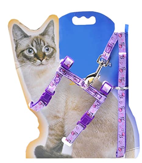 ziwieba nailon gato arnés plomo Set Collar ajustable para gatos gatos collar