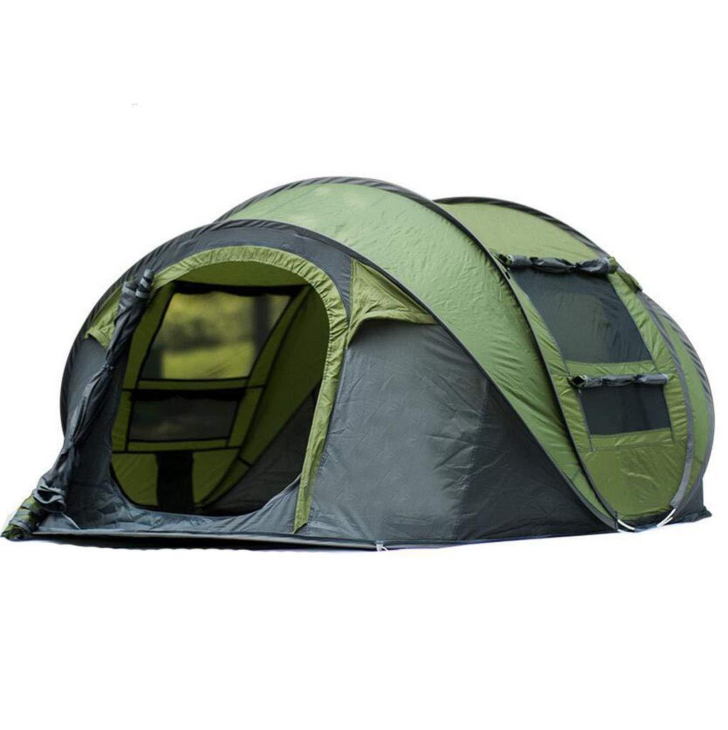 FEIYUESS Pop Up Schnellöffnung Camping Wandern Große Sofortzelt Für Outdoor-Sport Camping Wandern Reise Strand Kann 3-4 aufnehmen (Farbe : Grün)