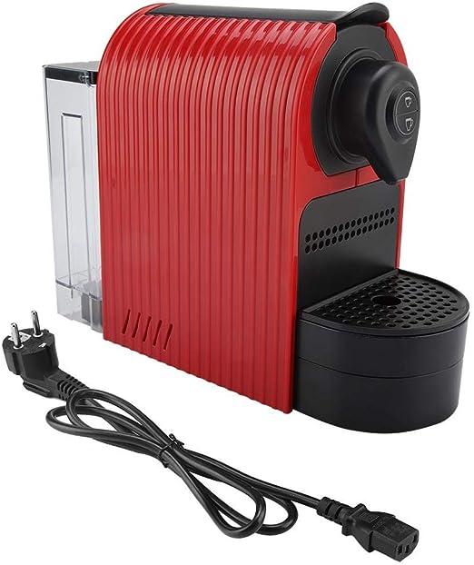 Cafetera, fabricante de cápsulas para bebidas calientes, espumador de leche(Rojo de la UE): Amazon.es: Hogar