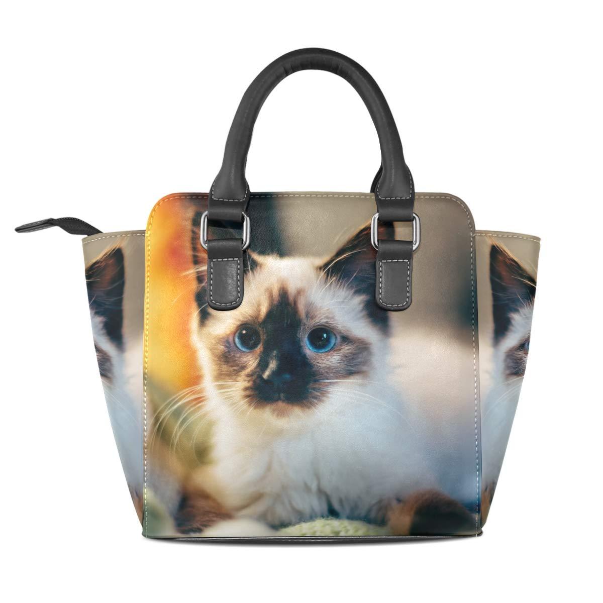 ac5d0cf051ab Amazon.com: Cat Plush Ragdoll Genuine Leather Handbags Purses ...