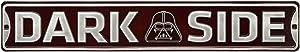 Open Road Brands Dark Side Darth Vader Embossed Metal Street Sign