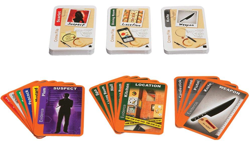 Hasbro Cluedo - Juego de Cartas (en Italiano) [Importado de ...
