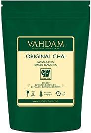 VAHDAM, India's Original Masala Chai Tea Loose Leaf - 50 cups, 100gm - Blend of Black Tea, Cinnamon, Cardamom,Cloves & Black