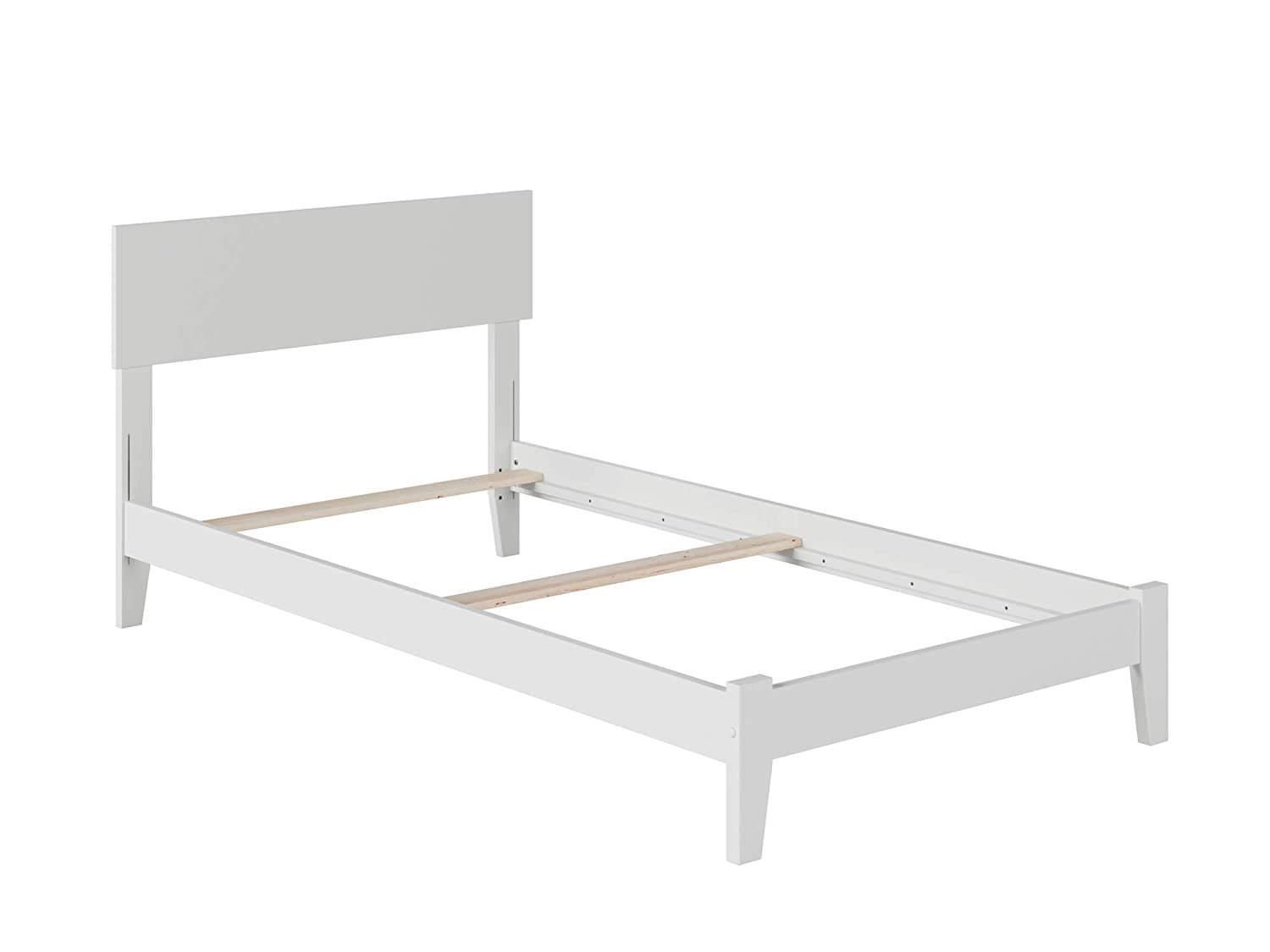 Atlantic Furniture Orlando Traditional Bed, Twin XL, White