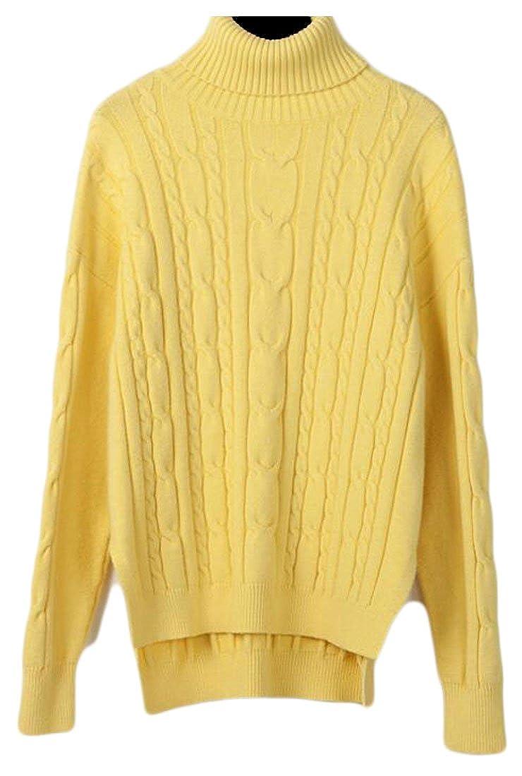 2 uninukoowomen clothes Unko Women' Classic Long Sleeve Textured Twist Knit Sweater