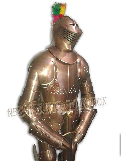Armadura de caballero medieval traje de combate de acero ...