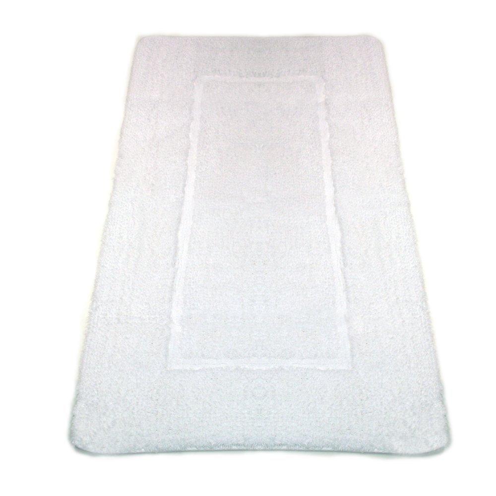 graccioza opulento seda 24 por 39 baño alfombra, algodón, Blanco, Large: Amazon.es: Hogar
