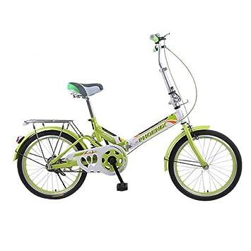 HUALQ Bicicleta Bicicleta Plegable 20 Pulgadas Adultos Niños y Niñas Estudiantes Ultra Ligero Bicicletas Portátiles de