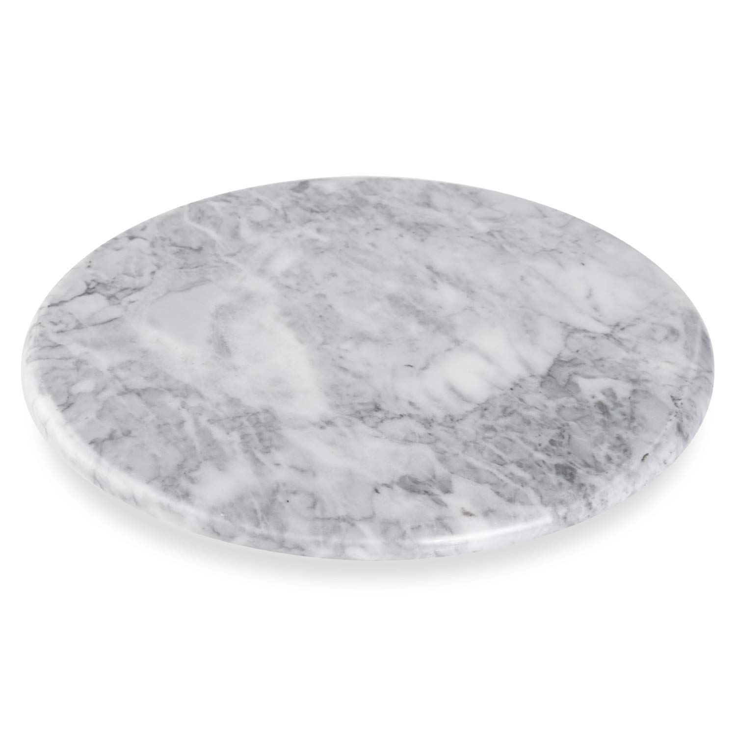 "AntTech Premium Marble Lazy Susan White Kitchen Turntable -9.8"" Diameter"