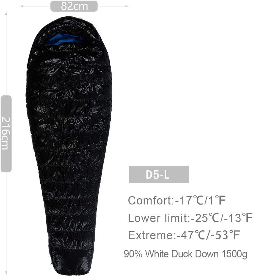 AEGISMAX D5 Series Winter Keep Warm Outdoor Camping Down Sleeping Bag Mummy White Duck Down Nylon Sleeping Bag