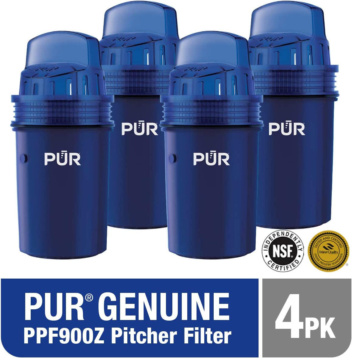 PUR Water Pitcher Replacement Filter, 4 Pack (Faster Pour): Kitchen & Dining