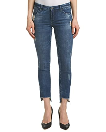 e6fe66896a9 Blank NYCレディースCropped Denim Distressed Skinny Raw Hem Jeans In Club Kid