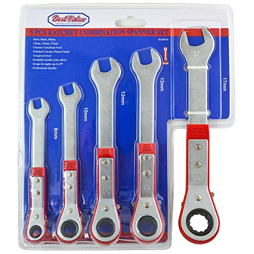Best Value H420418 5 Piece Metric Ratcheting Reversible Combination Wrench Set