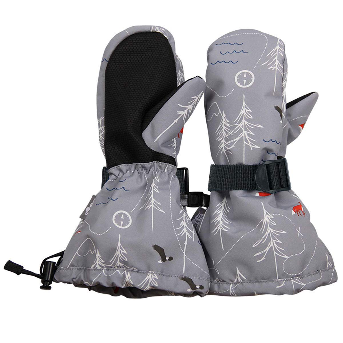 L: 6-8Y: Navy Jan /& Jul Waterproof Stay-on Winter Snow and Ski Mittens Fleece-Lined for Baby Toddler Kids Girls and Boys