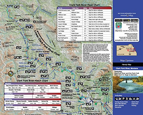 Map The Experience - Clark Fork River, Montana Fishing & Fly Fishing Map ()