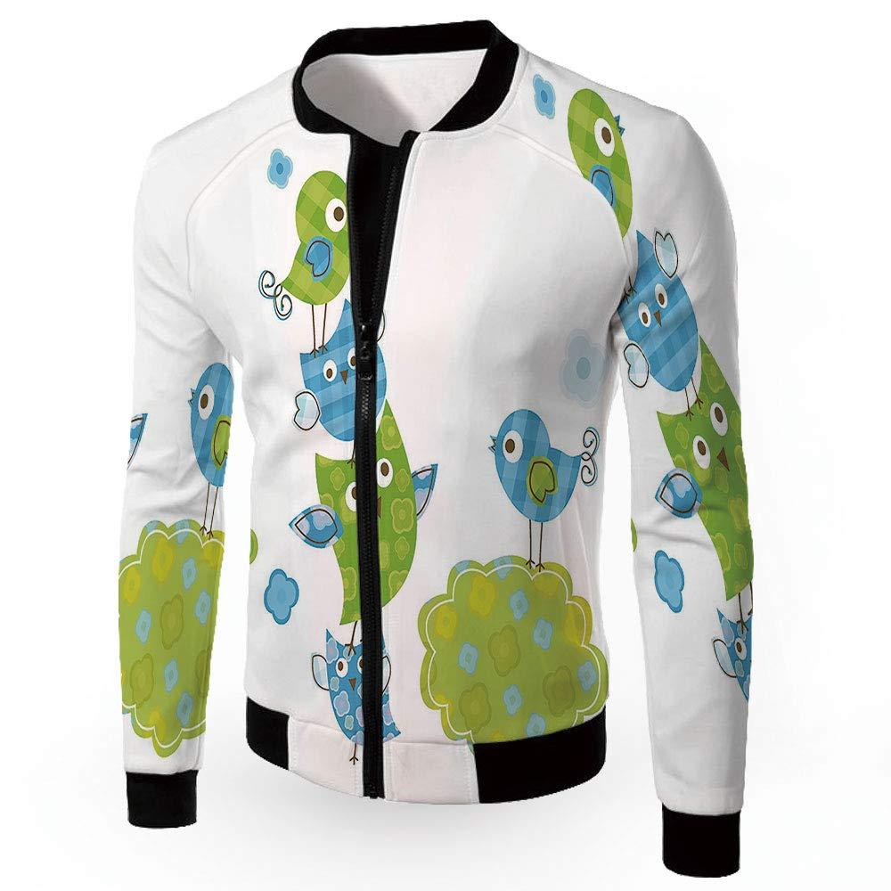 Multi11 Large iPrint Bomber Biker Coat,Nursery,Men's Lightweight Zipup Windproof Windbreaker Jacket,