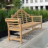 Cambridge-Casual AMZ-150051T Teak Lutyen's 5' Garden Bench, Natural