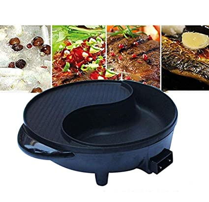 RNG-Electric grill Parrilla Eléctrica Hot Pot para Uso En El ...