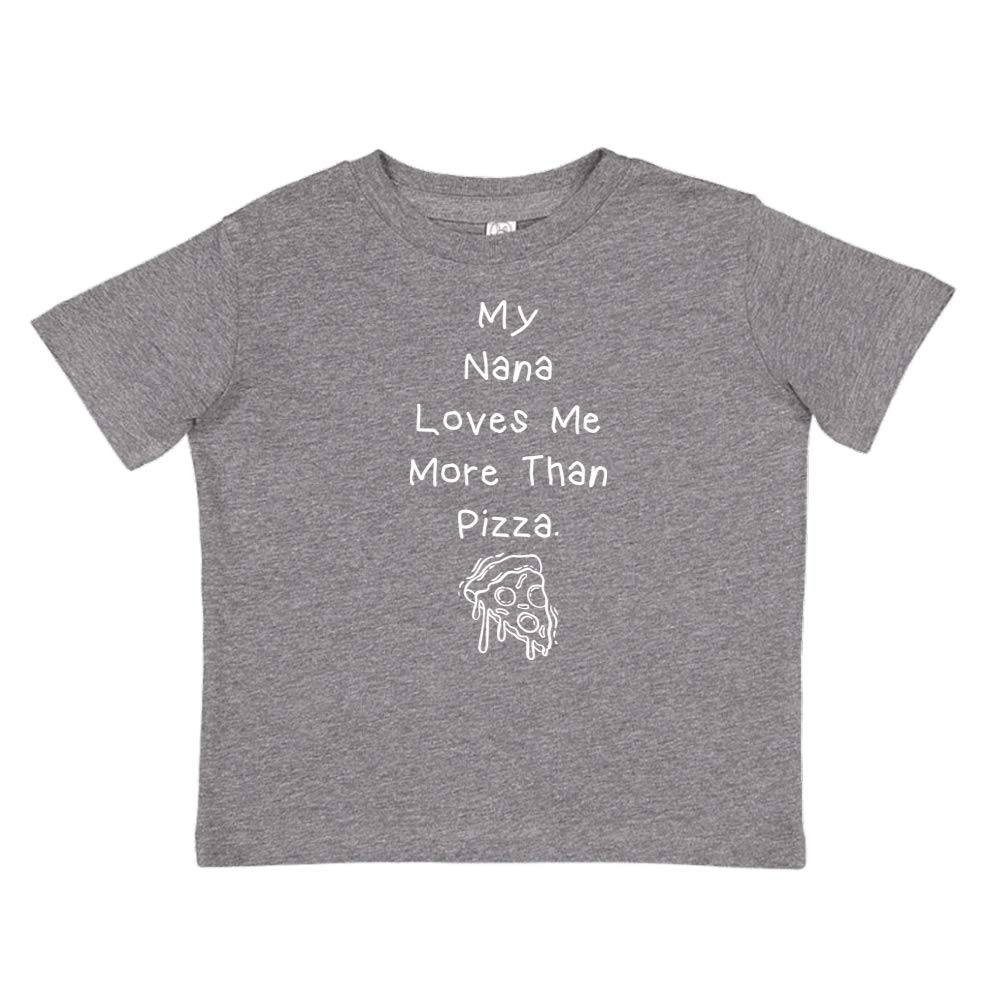 Toddler//Kids Short Sleeve T-Shirt My Nana Loves Me More Than Pizza