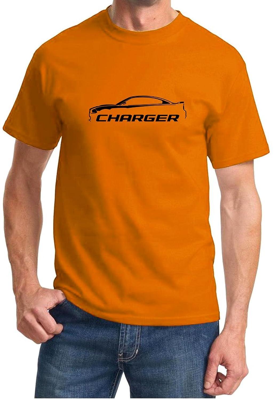 2010-14 Dodge Charger Classic Outline Design Tshirt 2XL orange