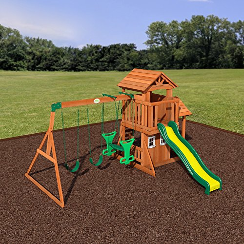 Backyard Discovery Tanglewood All Cedar Wood Playset Swing ...