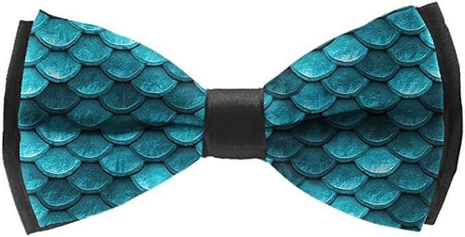 Bow Tie Mermaid Scale Adjustable Bowtie for Wedding Party
