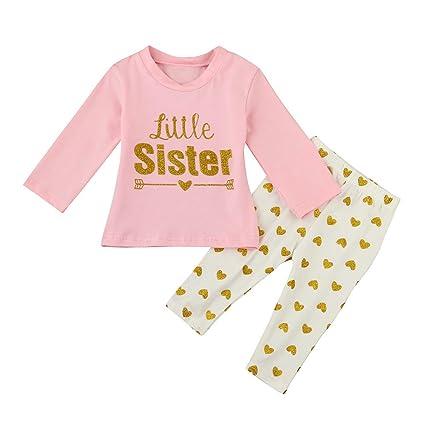 feiXIANG Ropa para bebés recién Nacidos Carta de Chicas para bebés ...