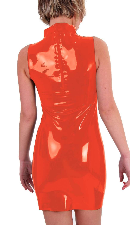 Anita Berg chlossenes – hochges chlossenes Berg látex Zip Mini de vestido transparente xxx-large 042901