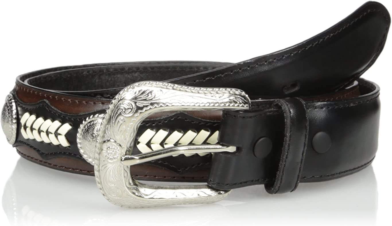 Nocona Mens Hired Black Lace Circle Belt