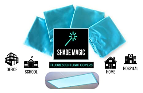 ShadeMAGIC Fluorescent Light Covers For Classroom Or Office   Light Filter  Pack Of (4)