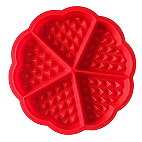 NiceButy - Molde de silicona para repostería con forma de corazón, color rojo