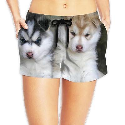 MASDUIH Womens Quick 3D Printing Dry Beach Shorts Nope Lazy Border Collie Casual Shorts